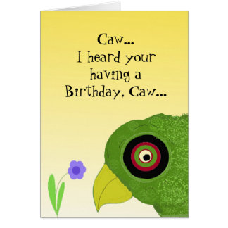 Cool Parrot Birthday Greetings Greeting Card