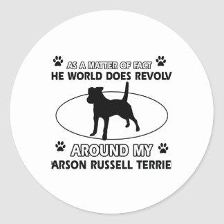 cool PARSON RUSSELL TERRIER designs Classic Round Sticker