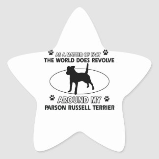 cool PARSON RUSSELL TERRIER designs Star Sticker