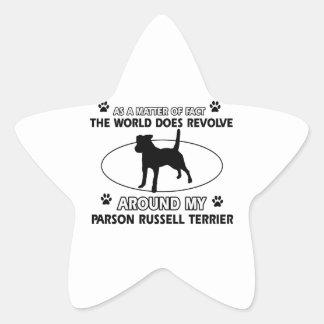 cool PARSON RUSSELL TERRIER designs Sticker