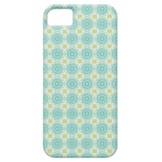 Cool Pastel Blue Retro Circle Pattern Easter iPhone 5 Case