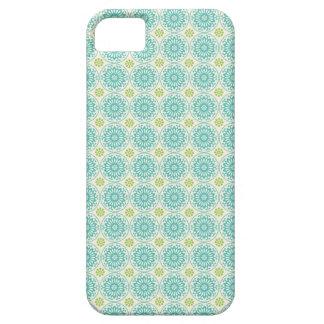 Cool Pastel Blue Retro Circle Pattern Easter iPhone SE/5/5s Case