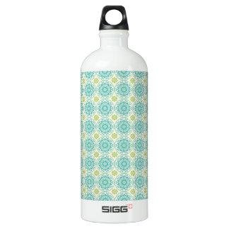 Cool Pastel Blue Retro Circle Pattern Easter SIGG Traveler 1.0L Water Bottle