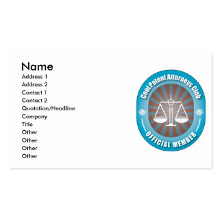 Cool Patent Attorneys Club Business Card