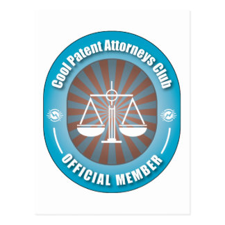 Cool Patent Attorneys Club Postcard