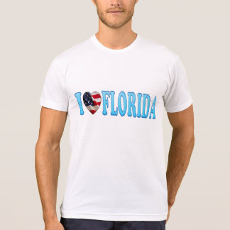 Cool Patriotic I Heart Florida T-Shirt
