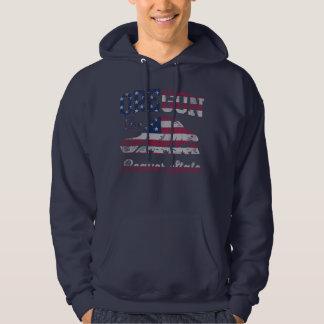 Cool Patriotic Oregon Beaver State American Flag Hoodie