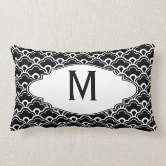 Cool Pattern Black and White Personalized Throw Pillows