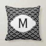 Cool Pattern Black and White Personalized Throw Pillow