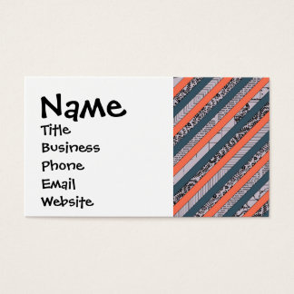 Cool Pattern Diagonal Stripes Coral Indigo Purple Business Card