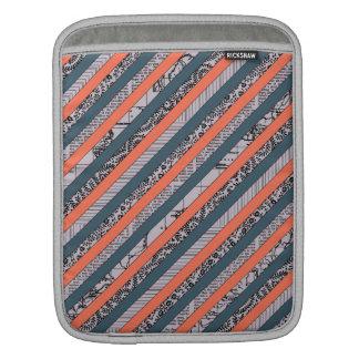 Cool Pattern Diagonal Stripes Coral Indigo Purple Sleeve For iPads
