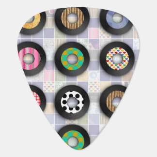 Cool Patterned 45s Guitar Pick