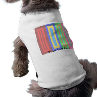 cool patterned rectangles doggie tee shirt
