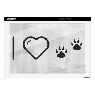 "Cool Pawprints 17"" Laptop Decal"