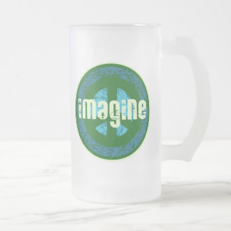 Cool Peace Anti-war Frosted Glass Beer Mug