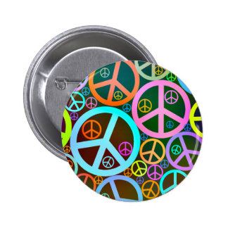 Cool Peace Love Heart 2 Inch Round Button