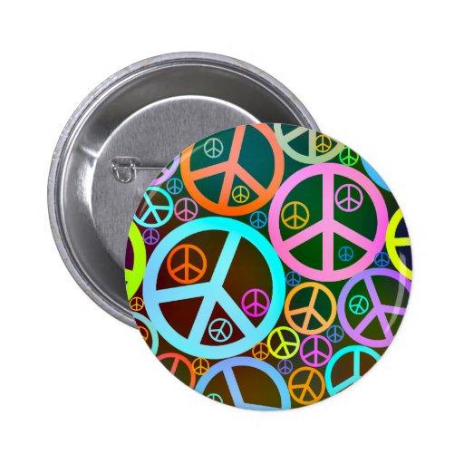 Cool Peace Love Heart Button