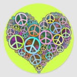Cool Peace Love Heart Stickers