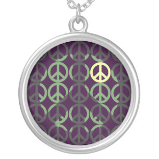 Cool Peace Shadow Silver Plated Necklace