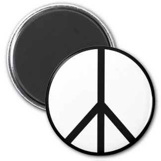 Cool Peace Sign 2 Inch Round Magnet