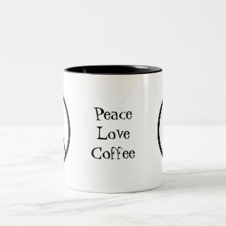 Cool Peace Sign Two-Tone Coffee Mug