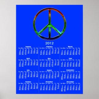 Cool Peace Sign Wall Calendar Poster