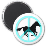 Cool peace symbol horse refrigerator magnet