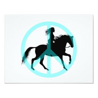 Cool peace symbol horse rider card