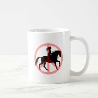 Cool peace symbol horse rider coffee mug