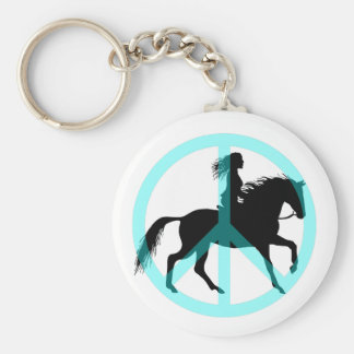 Cool peace symbol horse rider keychain