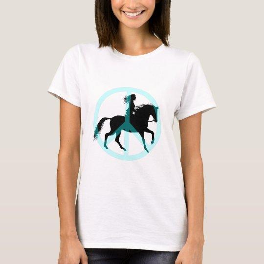Cool peace symbol horse rider T-Shirt