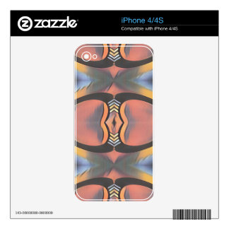 Cool Peach Gray Modern Artistic Abstract Decal For The iPhone 4S