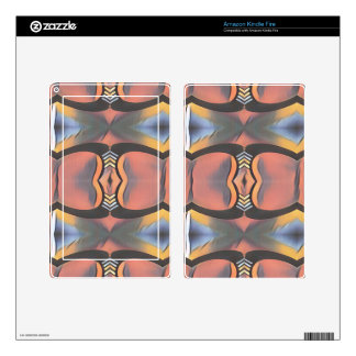 Cool Peach Gray Modern Artistic Abstract Skins For Kindle Fire