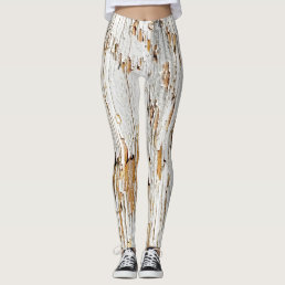 Cool Peeling White Paint Abstract Photography Leggings