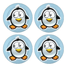 Cool Penguin Button Covers