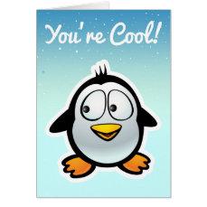 Cool Penguin Cartoon Card