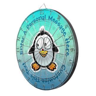 Cool Penguin Cartoon Dart Board