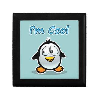 Cool Penguin Cartoon Gift Box