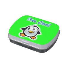 Cool Penguin Cartoon Jelly Belly Tin