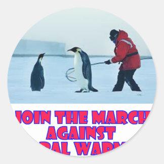 cool Penguin designs Classic Round Sticker