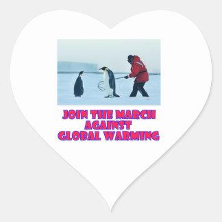 cool Penguin designs Heart Sticker