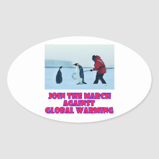 cool Penguin designs Oval Sticker