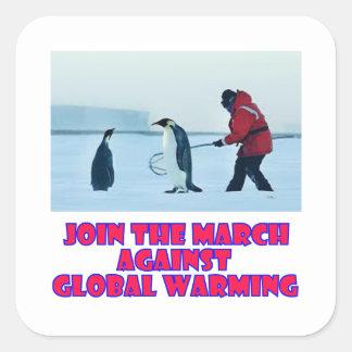 cool Penguin designs Square Sticker