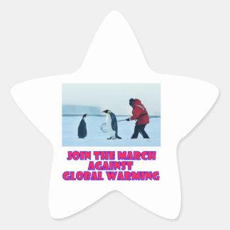cool Penguin designs Star Sticker