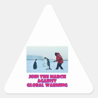 cool Penguin designs Triangle Sticker
