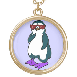 Cool Penguin Gold Plated Necklace