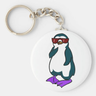 Cool Penguin Keychain