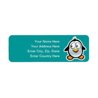 Cool Penguin Label