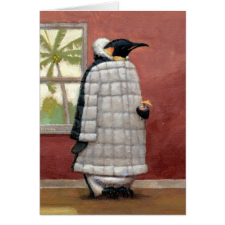 Cool Penguin note card