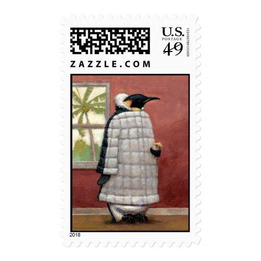Cool Penguin postage stamp